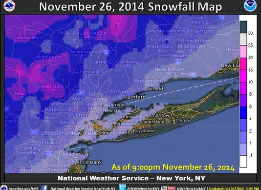 november 26 2014 snow map final accumulations